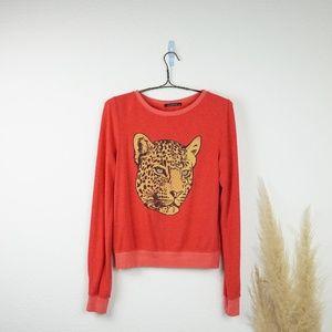 Wildfox cheetah sweater pullover sweatshirt